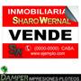 Carteles Inmobiliaria Autoadhesivos 70x50 Cm. Ploteos Banner