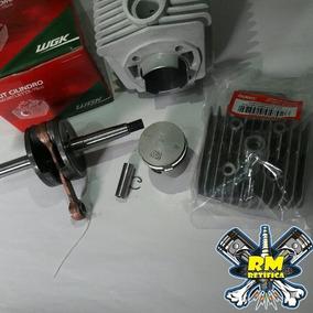 Kit Cilindro Wgk Mobilete 75cc Com Cabeçote E Virabrequim