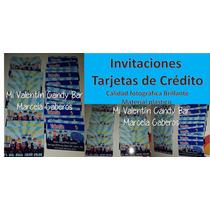 Invitaciones Tarjeta De Crédito De Plástico!personalizada!