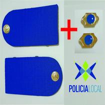 Charreteras Policia Local Jerarquias Par + Atributos Policia