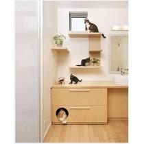 Prateleira Pet Parede Gato Suporte Invisível Sob Medida Mdf