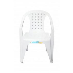 Kit 5 Cadeiras Pvc Encosto Baixa Micaela Dolfin Branca