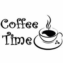 Adesivo Decorativo Coffee Time Cozinha E Geladeira Cafe