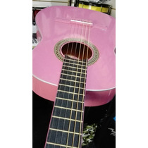 Guitarra Criolla Mediana Rosa Violeta Tipo Gracia Kitty