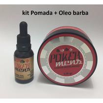 1 Pomada Modeladora + 1 Oleo Para Barba E Bigode Poker Mens