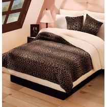 Cobertor Leopardo Matrimonial Animal Print Envio Gratis