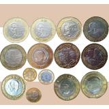 Coleccion De 14 Monedas De 20 Y 10 Pesos
