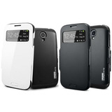 Capa Case Flip Slim Armor S-view Samsung Galaxy S4 +brindes