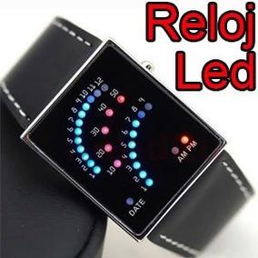 Reloj Binario 29 Leds Unisex Retro Velocimetro Light Au1