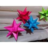 Estrella 3d Origami Souvenirs Cumpleaños-bautismo-boda