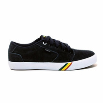 Tenis Maresia Rasta Reggae Preto Par Skate Bob Roots Novo