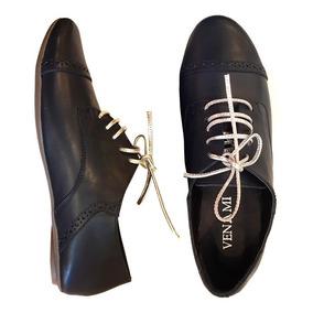 Zapatos Mujer Acordonados Abotinados Urbano Femenino