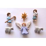 Navidad Botones Figura Pastores Decorar Toallas, Bufanda