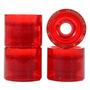 Roda Urgh Skate Clear Vermelha 68mm Importada