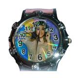 Reloj Pulsera Violetta Agujas Pilas Malla Ecocuero - Tini