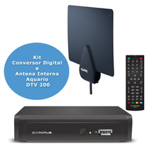 Conversor Digital Cromus Chd 2014 Antena Aquario Dtv 200