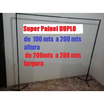 Suporte Painel De Festa,banner,cortina Duplo 200x280 Branco