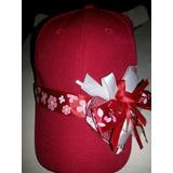 Bella Gorra Para Niñas Color Rojo Con Lazo Adornado