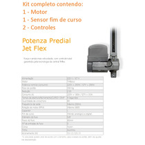 Kit Motor Portão Basculante Potenza Jet Flex Ppa 1/3 Veloz