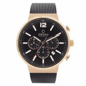 Reloj Obaku Negro Crono Para Caballero V180gcvbmb Original**