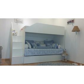 Cama Tricama/beliche Infantil Branca