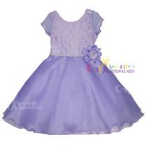 Vestido De Festa Infantil Princesa Sofia Tam 4-12 Promoção