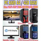 Computadora Pc Completa Amd A6-7400k 4gb 120gb Ssd Gamer +