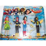 Kit 4 Bonecos Super Herois Varios Persongens Meninas Frete G