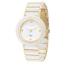 Relógio Technos Ceramic /sapphire Branco/dourado 2036lnd/4b
