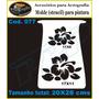 Stencil Molde Vazado Aerografia Promoção Flores 2 Em 1