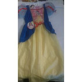 Vestido Original Blanca Nieves Con Luces 3 Años O + Talla 8