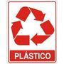 Placas De Sinalizacao Tipo De Lixo Plastico 15x20 Cm