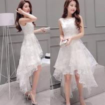Vestido Blanco Luxury Delicado 2016 Mujer Sleeveless Low