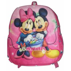 Mochila Minnie E Mickey 3d Relevo Peq 35x30x10 - Creche