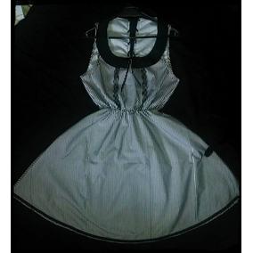 Vestido Acampanado Pin Up, Dark, Goth, Rayado, C Puntilla