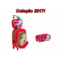 Kit Mochilete G + Lancheira + Estojo Ever After High Apple