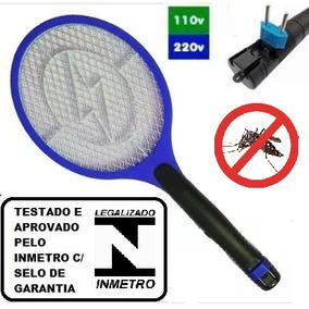 Raquete Elétrica Recarregável Mata Mosquito Mosca Bi-volt