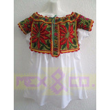 Blusa Bordada Artesanía Mexicana Oaxaca