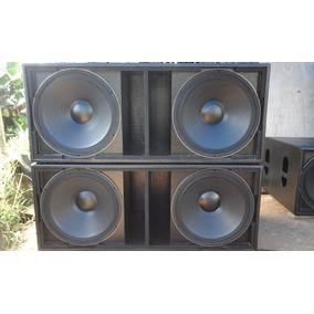 Kit 4 Caixas Ativa/passiva- Sistema 8000w- P/ Dj E/ou Banda