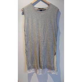 Sweater Sin Mangas Con Forro De Gasa. Tipo Camisa. Divino.