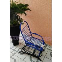 Cadeira De Balanço Infantil Com Mola Cor Azul