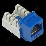 Jack Rj45 Categoria 6 Caja X 12 Unidades Azul