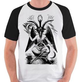 Camiseta Baphomet Bafomé Bode Camisa Blusa Raglan