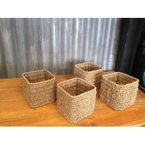 Canastos Seagrass, 12 Cm X 12 Cm, Precio Por Unidad