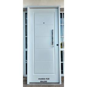 Puerta Doble Chapa Inyectada 80x200
