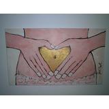 Lindo Quadro Famoso Artista Pintor Jack Mast Coração De Ouro