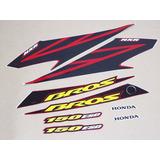 Kit Adesivos Honda Nxr 150 Bros Esd 2007 Vermelha