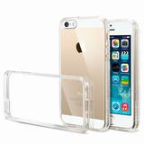 Capa Case Iphone 5 5s Se Transparente Tpu + Película Vidro