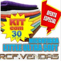 Kit 30 Panos Microfibra Flanela Lavagem A Seco * Anti-risco