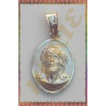 Magnífica Medalla Chica Rostro De Jesús Plata .925 Md